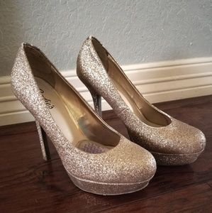 Sparkly Champaign/Gold High Heels